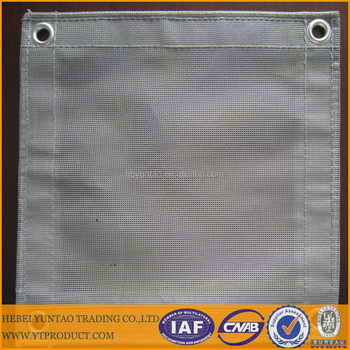 Fire resistant HDPE/PVC scaffolding safety net for construction
