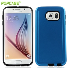Hot sell Phone cover with flat lacquer on it ,combo case ,phone accessories for SAMSUNG S6