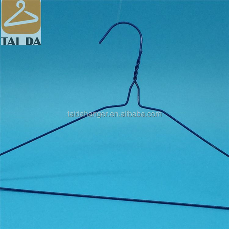 Matel 16'' Stand Notches Cheap Plastic Coated Laundry Use Bulk Wire Hanger