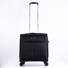 Best quality promotional leather laptop bag men ladies trolley fancy soft luggage