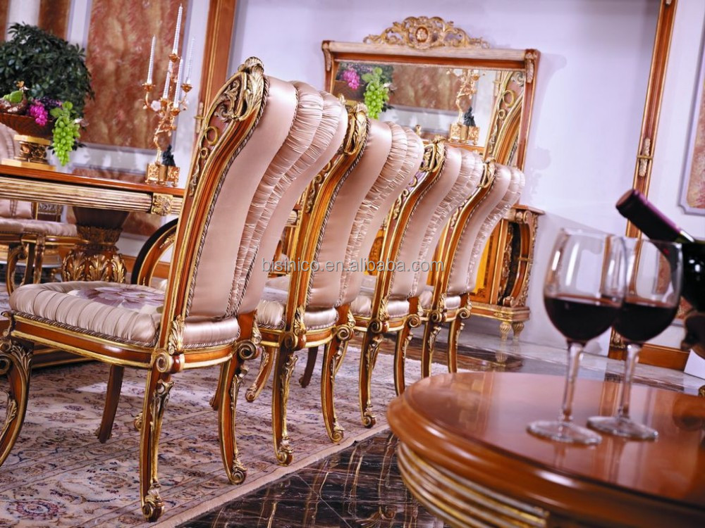 Luxe fran ais style feuille d 39 or salle manger meubles for Salle a manger 10 personnes