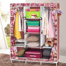 double color design furniture bedroom assemble portable wardrobe