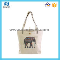 Custom high quality natural printed tote shopping cotton bag