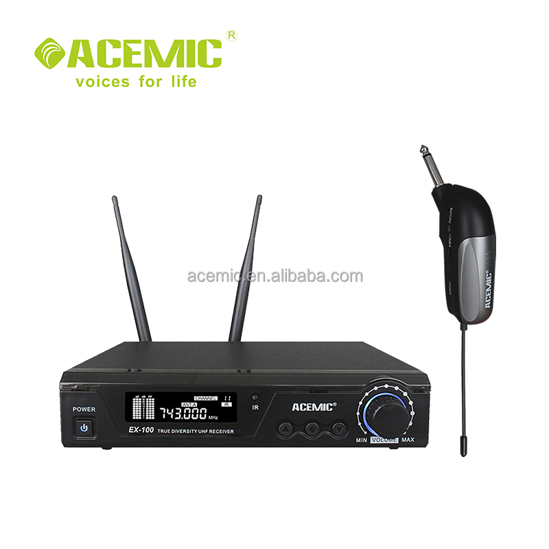 ACEMIC EX100 GT1Professional stage true diversity uhf wireless guitar microphone
