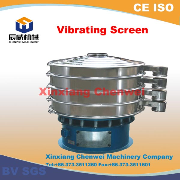 CE,BV,ISO certified S49 series vibrating wet screen sieve / slurry rotary vibrating screen