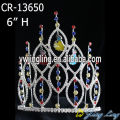 Cute rhinestone pageant princess crown with hanging character