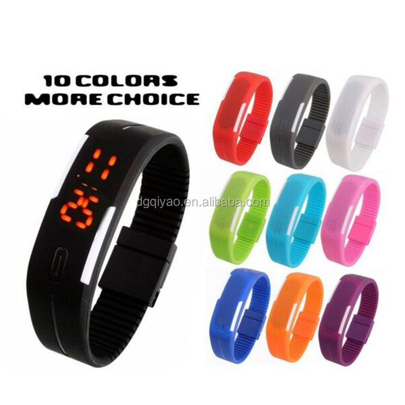 New arrival led watch popular silicone rubber blacelet wristband digital watches