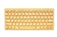 Impecca Bamboo Bluetooth Keyboard, Orange Citrus