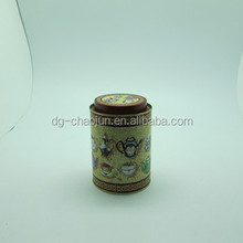 round fancy food packaging tin cans hot sale