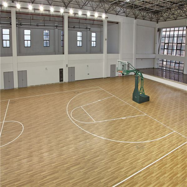 Good sale wood looking anti-slip indoor basketball flooring from china