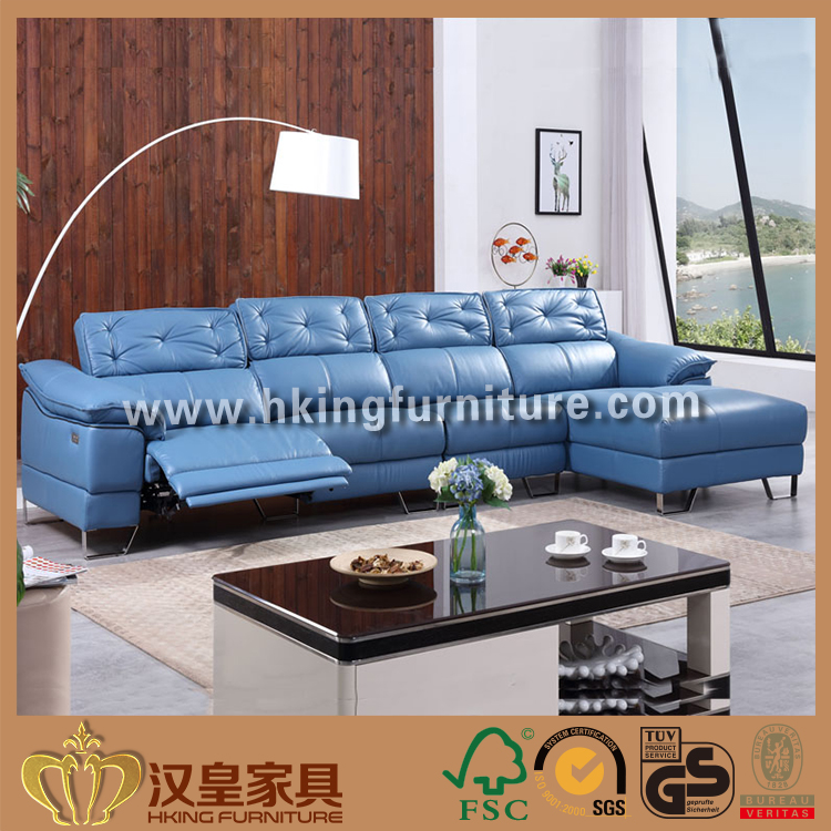 2017 Latest Corner Sofa Design, Electric Genuine Leather Recliner Sofa Have Reclining Headrest For China Home Furniture