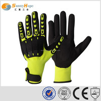 sunnyhope Shock absorbing knuckle pads impact safety work gloves