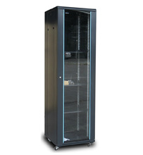 Black19 inch standing type indoor server rack for data center room