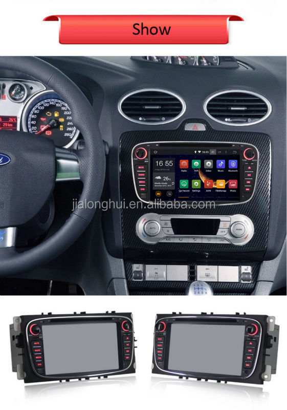 DOUBLE DIN ANDROID 4.4 CAR AUDIO CAR DVD FOR FORD FOCUS MONDEO S-max Kuga with WIFI,BT,SWC,1080P Video Playback,3G Optional