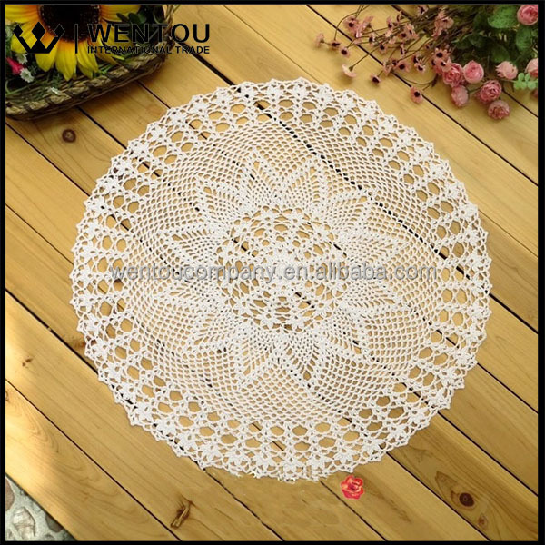 Wholesale Retro Home Textile Handmade Round Crochet Doily Rug Pattern