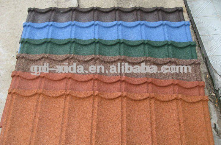 round of roofing shingle and metal tile roofing