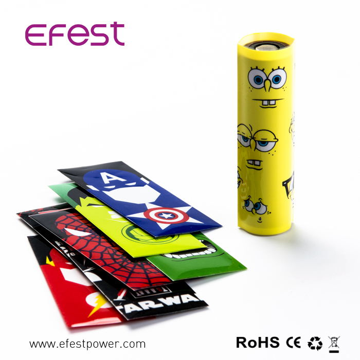 Shrink Wrap Printing 18650 Battery wrap 18650 Cartoon Battery Wrappers/PVC