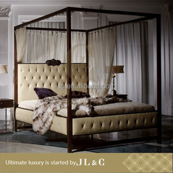 High Quality Queen Size Bed With Manufactory Price Fourposter Bedroom Furniture-JLC Luxury Home Furniture