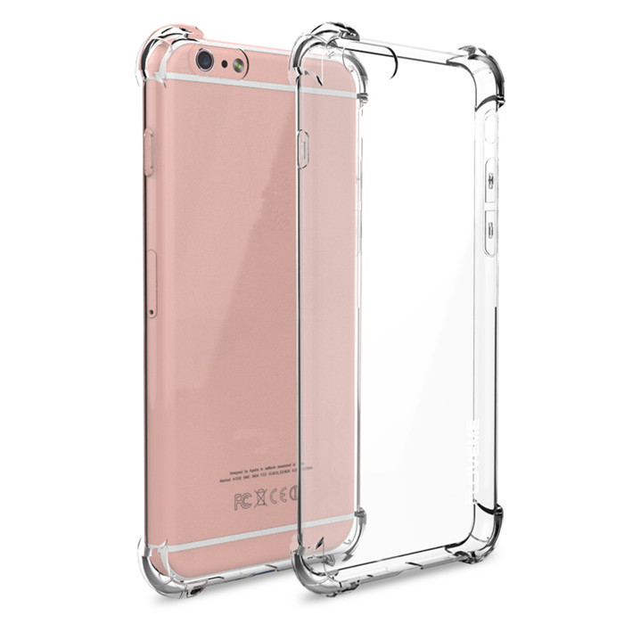 Popular Anti-knock Clear For iphone 6 Case Silicone TPU Transparent Clear Cover Full Protective 5 inch Mobile Phone Case
