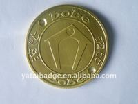 brass color badge