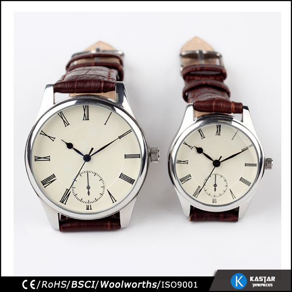 fashion elegant pair wrist watch for lovers, i love you watch
