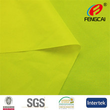High quality warp knitting fluorescent yellow fabric for fluorescent vest