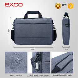 EXCO gray and red portable one shoulder custom 13 inch polyester Waterproof laptop messenger bag for Macbook pro