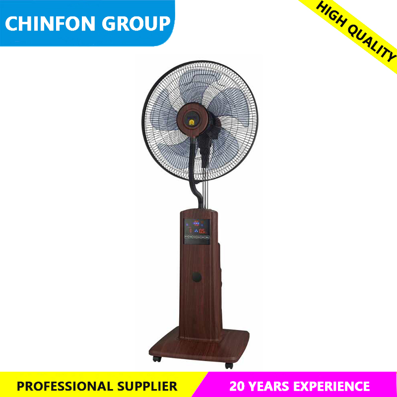 "High Quality Black Color 16"" Electric Fan ELectric Stand Fan Mist Fan"