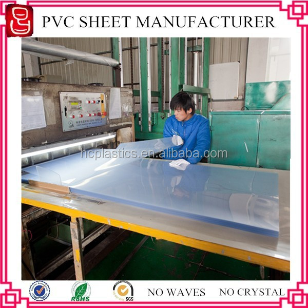 Reach certificate 3x6 feet screen printing transparent pvc sheets/pvc clear sheet