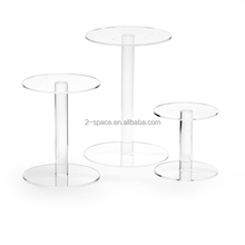 Transparent Food Display Stand Dessert Stand Clear Acrylic Round Risers For Party