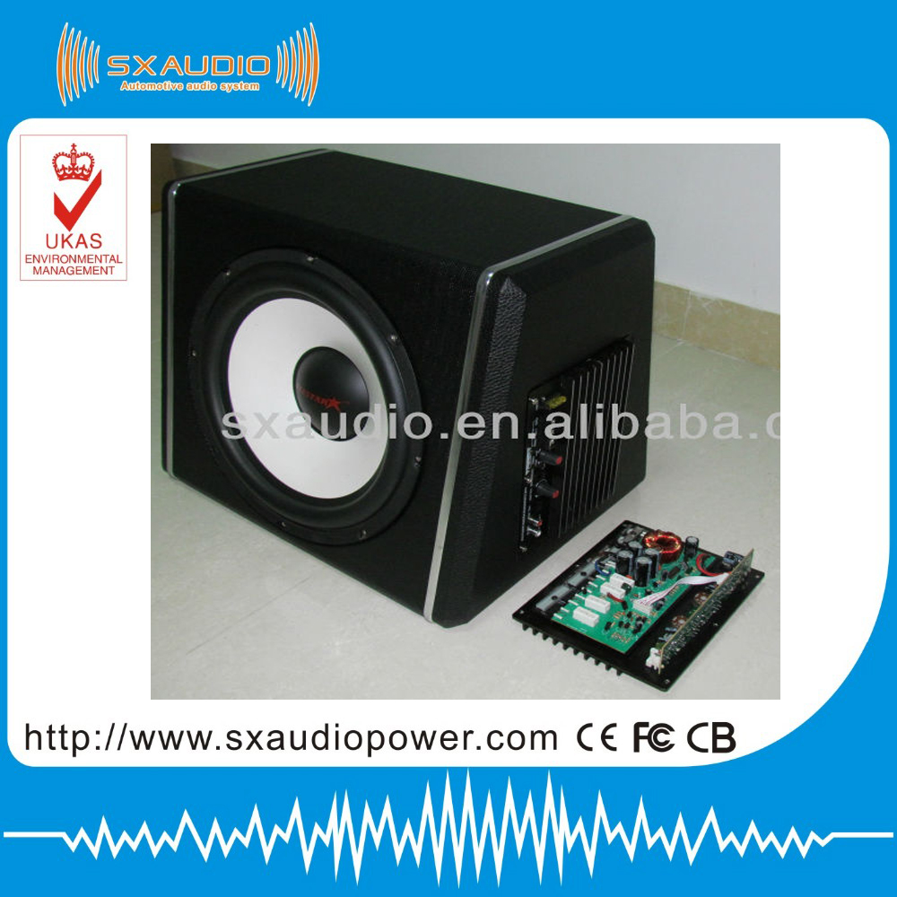 factory directly sale built car subwoofer of 10 inch car subwoofer with amplifier SX-1006 in high level and car bass tube