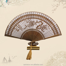 Delicated Handmade Carving Bamboo Fan for Home Decoration