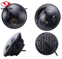"7inch led headlight for harley offroad led driving light 7'' with Angel Eyes led 7"" headlight"