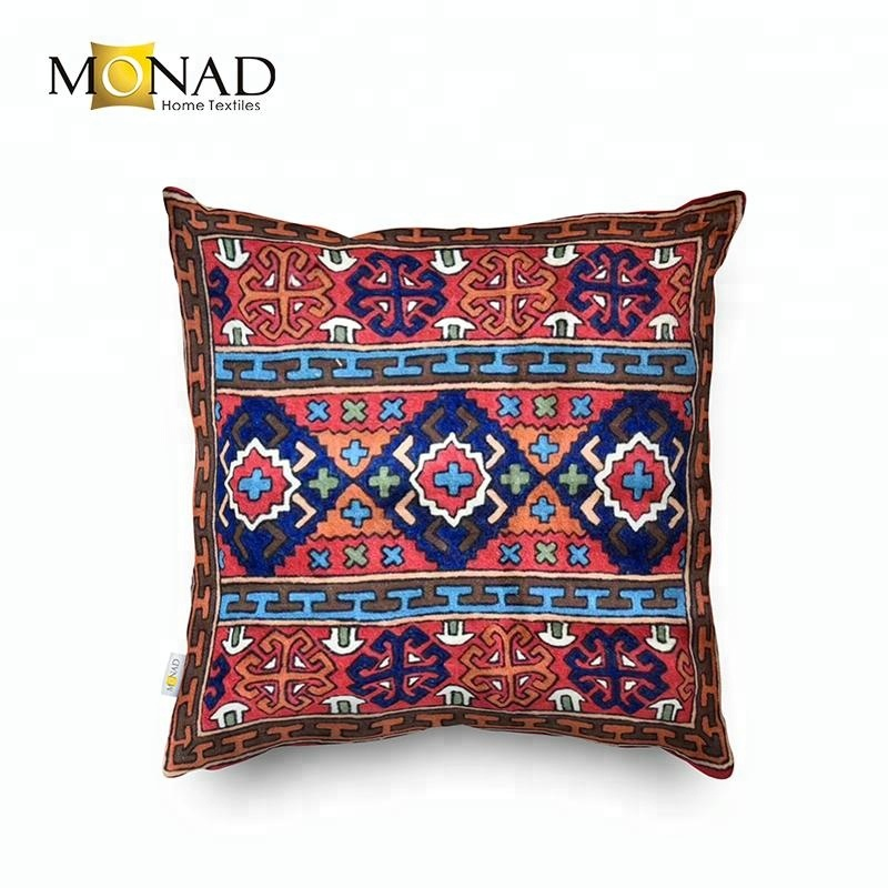 Indian Traditional Suzani Style Kilim Ethnic Digital Printed Cushion Cover