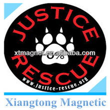 Round Shape Custom Design Printed Decorative Car Door Magnet / PVC Water-proof Magentic Painting Car Door Stickers