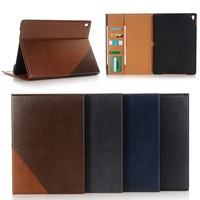 glossy leather case with card holder for ipad pro 9.7 inch with wake up /sleep function , for apple ipad pro tablet accessories