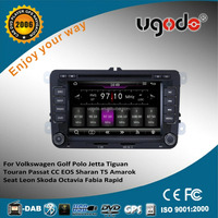 ugode 7 inch wince 6.0 car radio player for seat leon 2 din radio dvd player