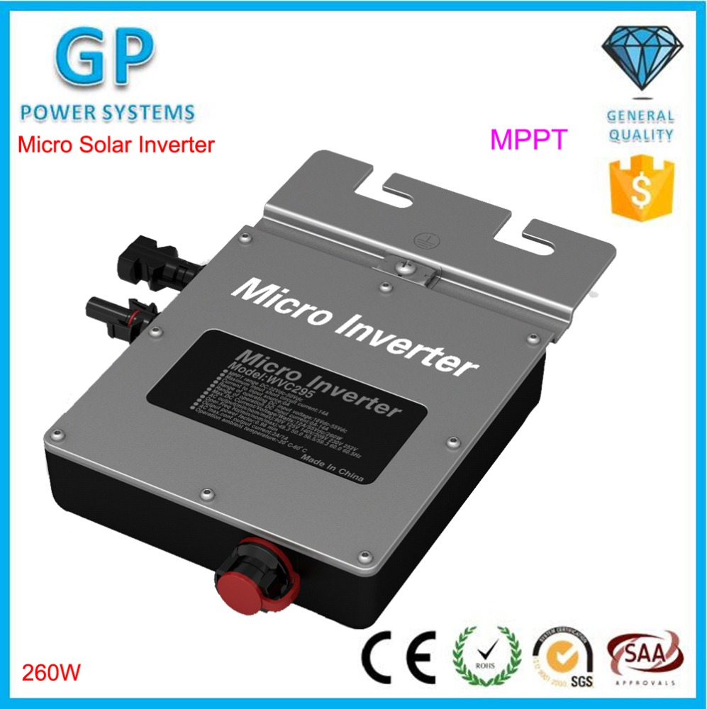260W Waterproof Grid Tie <strong>Solar</strong> Micro Inverter DC AC Inverter