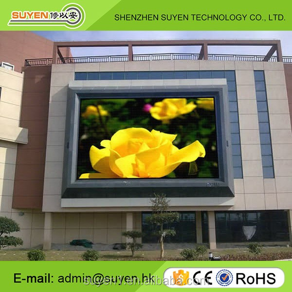 Shenzhen supplier 6mm large display screen high brightness full color P6 outdoor fix led video
