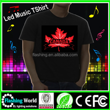 Hot selling High quality custom led t-shirt,Customer LED tshirt,EL shirt custom