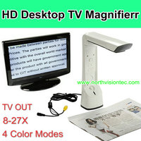 8-27X reading electronic magnifier connect to TV or computer