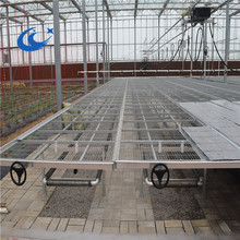 Plans to build benches for greenhouse that support plants in trays, flats and pots