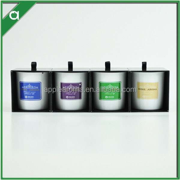 gift set fragrance soy candles in glass jar