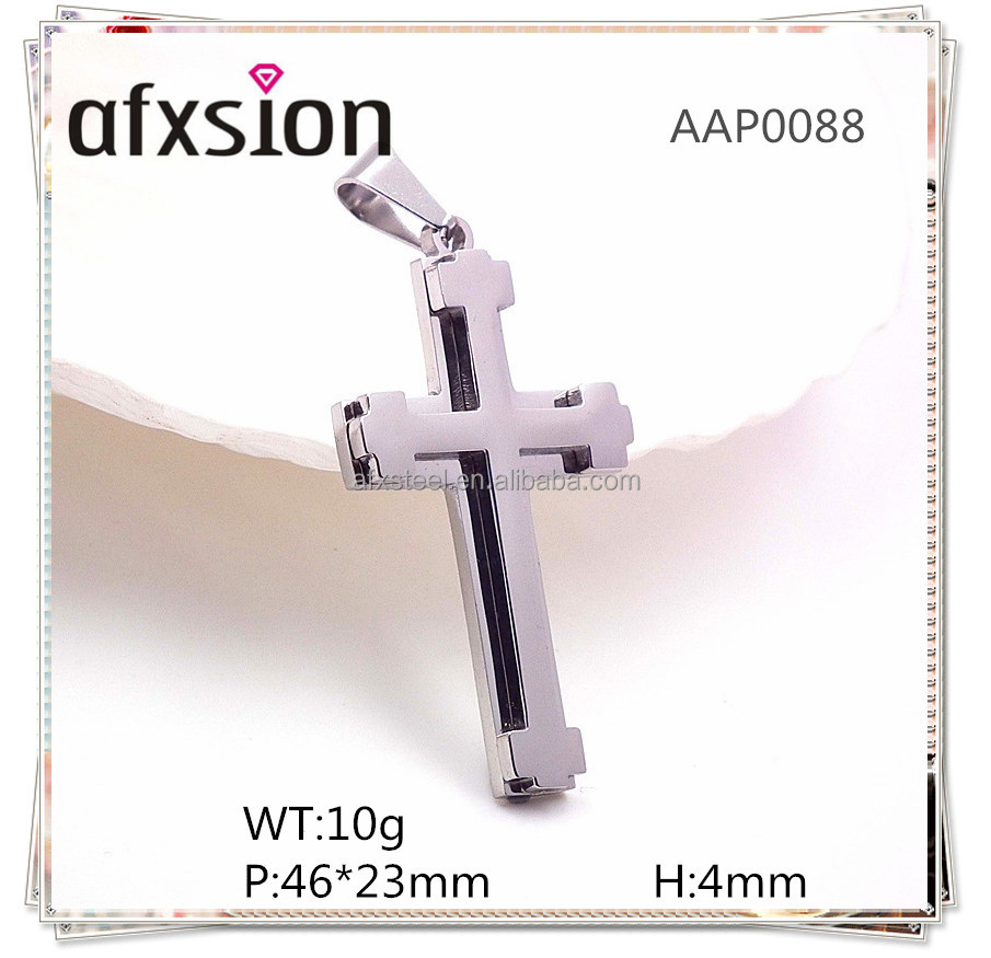 Italian church religious jewelry,Chinese jewelry suppliers cheap Silver stainless steel cross pendant jewelry