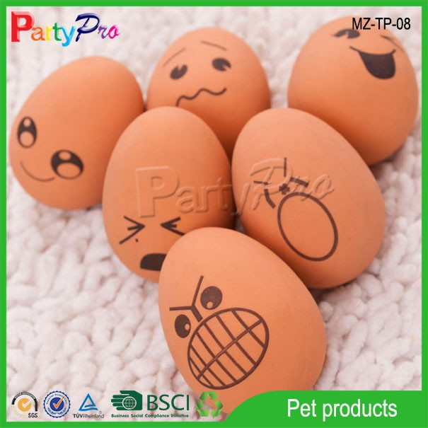 2015 Durable Amusing Bouncing Ball Soft Growing Pet Egg Dog Toy