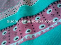 Print textile Angora spandex knit fabric single jersey