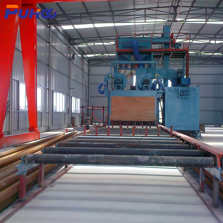 QGW Pass Through Type Steel Pipe Shot Blasting Machine