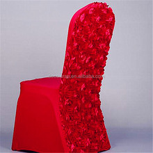 Luxury Royal Elastic Stretch Spandex Rosette Chair Cover For Wedding