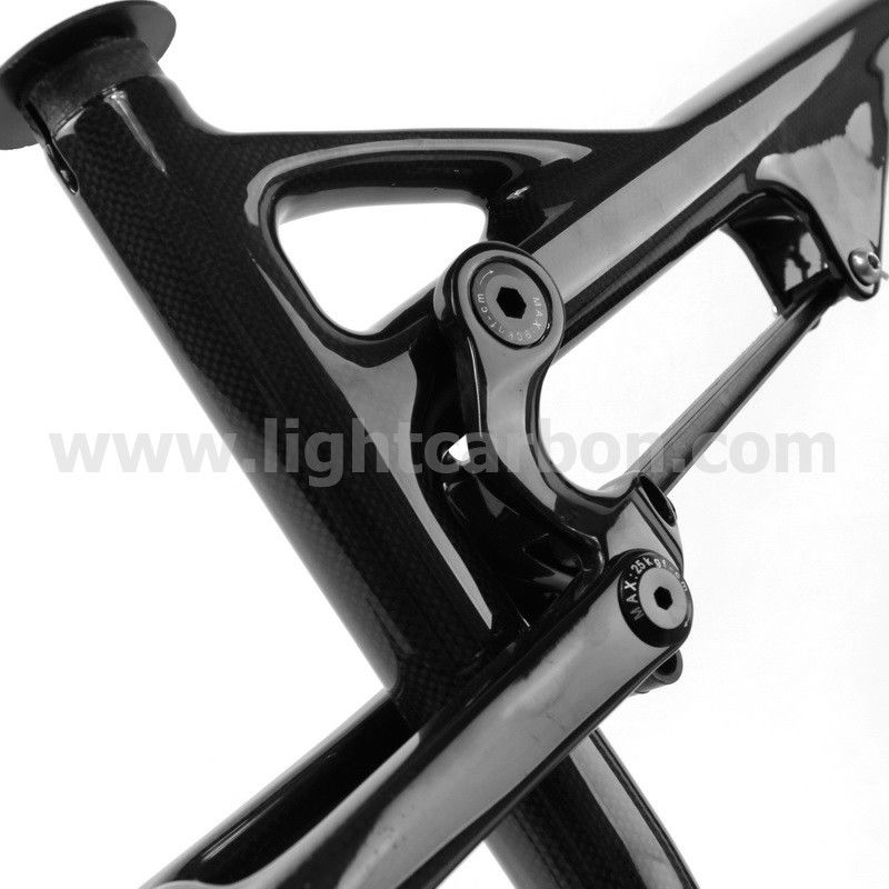 Lightcarbon 27.5er PM dual suspension chinese carbon bike frame with BSA/BB30 system DS169,3k/ud carbon frame