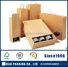 high-quality cheap 3 bottle wooden wine box